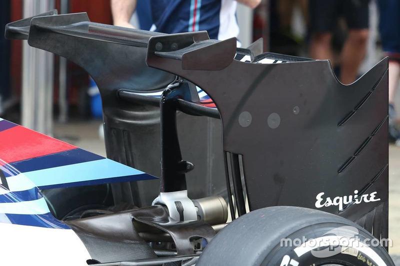 Новое заднее антикрыло Williams FW38