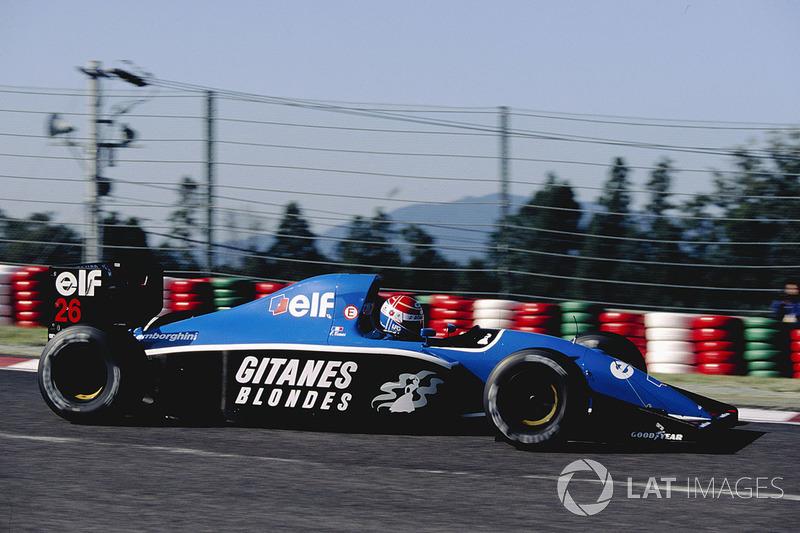 """14. <img src=""""https://cdn-5.motorsport.com/static/img/cfp/0/0/0/0/75/s3/france-2.jpg"""" alt="""""""" width=""""20"""" height=""""12"""" />Erik Comas 59 Grandes Premios (1991-1994), el mejor resultado es el 5° lugar en (Francia 1992)."""