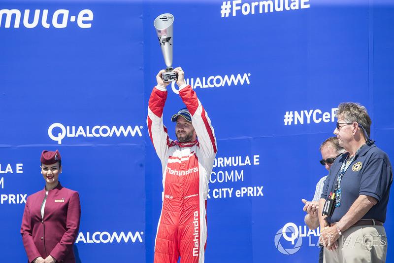 Podio: tercer lugar Nick Heidfeld, Mahindra Racing
