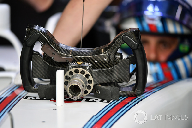Felipe Massa, Williams FW40 steering wheel detail