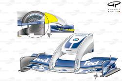 Williams FW26 'Walrus' nose