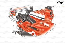 Ferrari F2005 engine cover