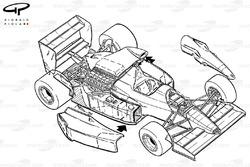 Схема Williams FW13B 1990 года