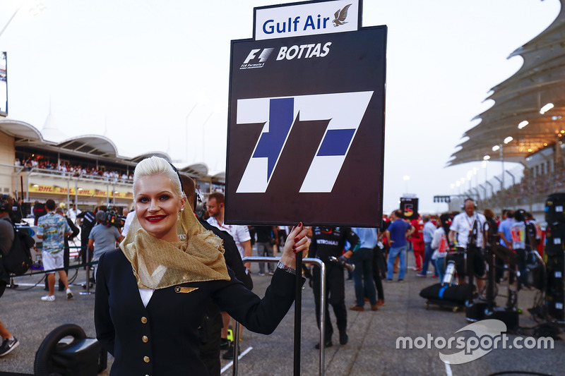 Grid Girl for Valtteri Bottas, Mercedes