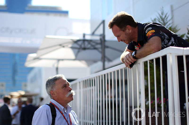 Chase Carey, Formel-1-Chef, Christian Horner, Red-Bull-Teamchef