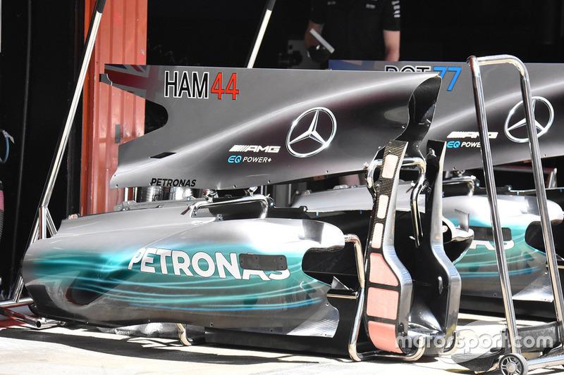 Capot moteur de la Mercedes AMG F1 W08