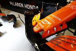 McLaren MCL32 detalle del alerón delantero