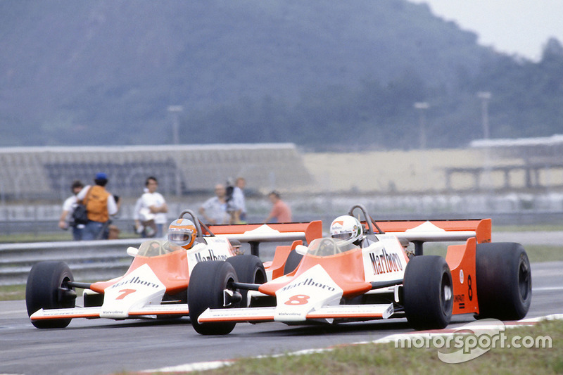 Andrea de Cesaris, John Watson, McLaren M29F-Ford Cosworth (1981)