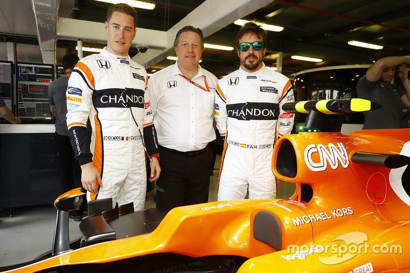 Stoffel Vandoorne, McLaren, Fernando Alonso, McLaren, Zak Brown, McLaren Technology Group