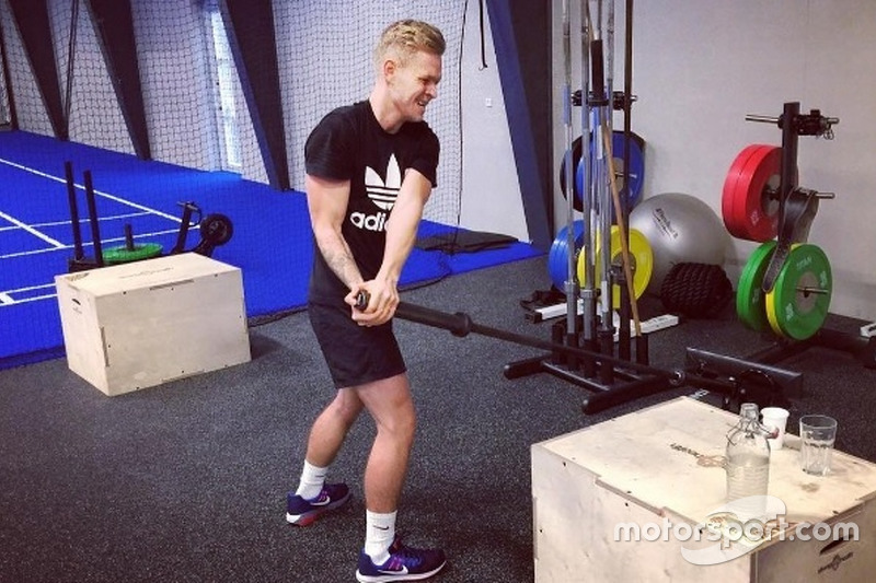 Kevin Magnussen entrenando