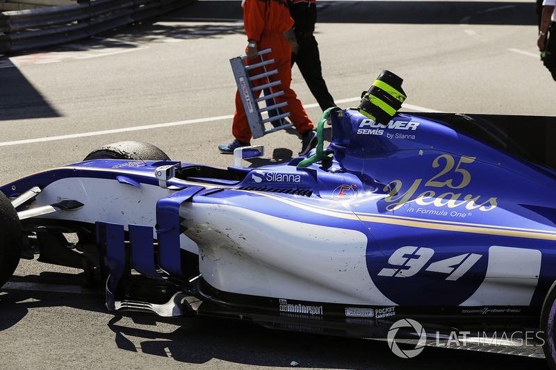 Пошкоджена машина Паскаля Верляйна, Sauber C36