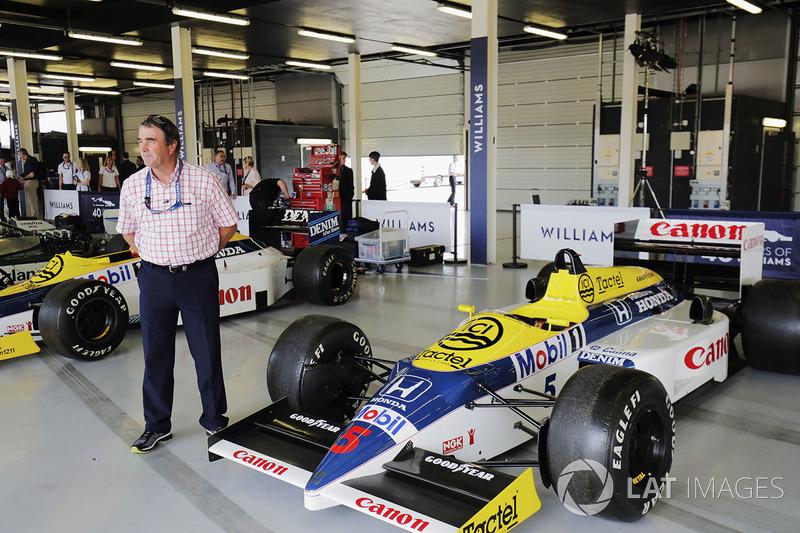 Найджел Мэнселл с Williams FW11 Honda