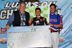 Kyle Larson took the win in the Vacuworx International Race of Champions