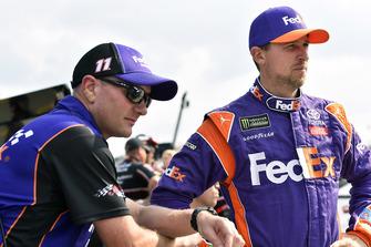 Denny Hamlin, Joe Gibbs Racing, Toyota Camry FedEx Office and Michael Wheeler