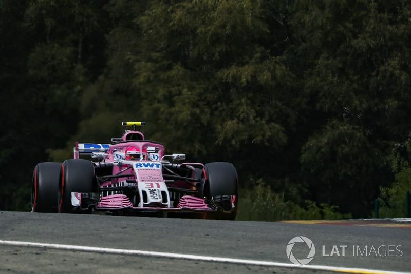 6 місце — Естебан Окон, Force India. Умовний бал — 19,33