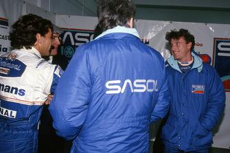 Ayrton Senna, Williams; Eddie Irvine, Jordan