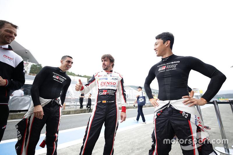 Sébastien Buemi, Fernando Alonso, Kazuki Nakajima, Alexander Wurz, Toyota Gazoo Racing