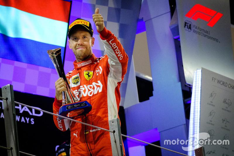 3º Sebastian Vettel: 105 puntos (no pierde ni gana posiciones respecto a 2017)