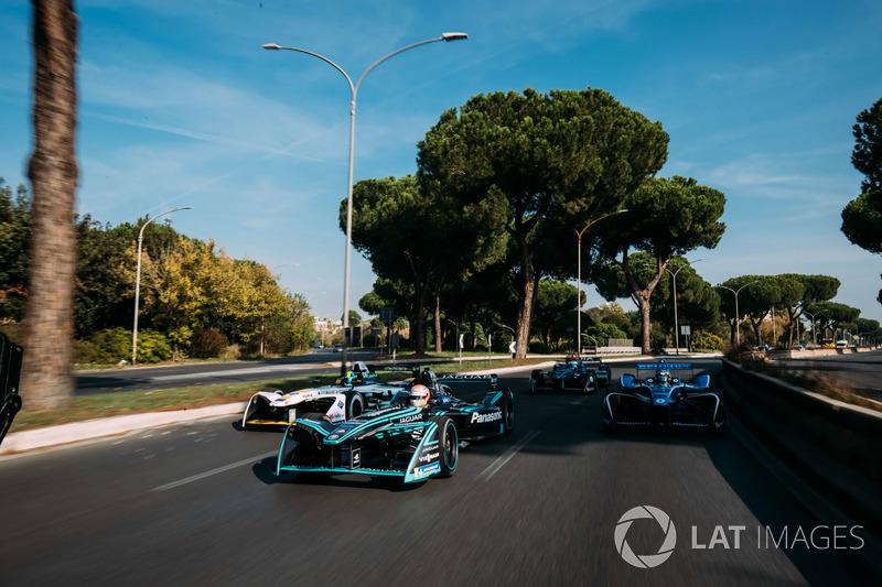 Nelson Piquet Jr., Jaguar Racing, Lucas di Grassi, Audi Sport ABT Schaeffler, Sébastien Buemi, Renault e.Dams y Luca Filippi, NIO Formula E Team