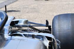 Mercedes-AMG F1 W09 detalle de la suspensión delantera