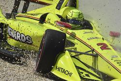 Abflug: Simon Pagenaud, Team Penske Chevrolet