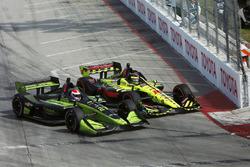 Charlie Kimball, Carlin Chevrolet, Sébastien Bourdais, Dale Coyne Racing with Vasser-Sullivan Honda