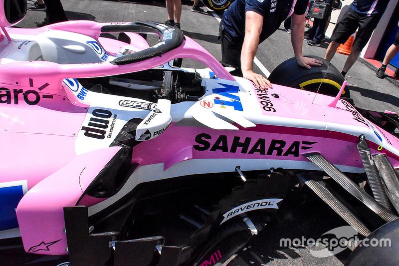 Detalle del Force India VJM11