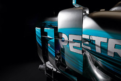 Mercedes AMG F1 W08 sidepods detail