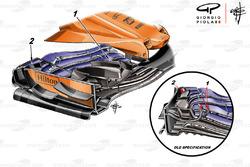 Переднє антикрило McLaren MCL33, Гран Прі Монако