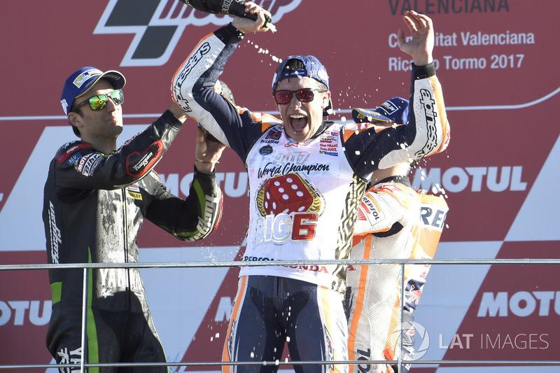 Подіум: третє місце, Чемпіон світу MotoGP 2107 року Марк Маркес, Repsol Honda Team