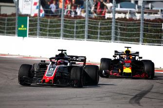 Ромен Грожан, Haas F1 Team VF-18, Даніель Ріккардо, Red Bull Racing RB14