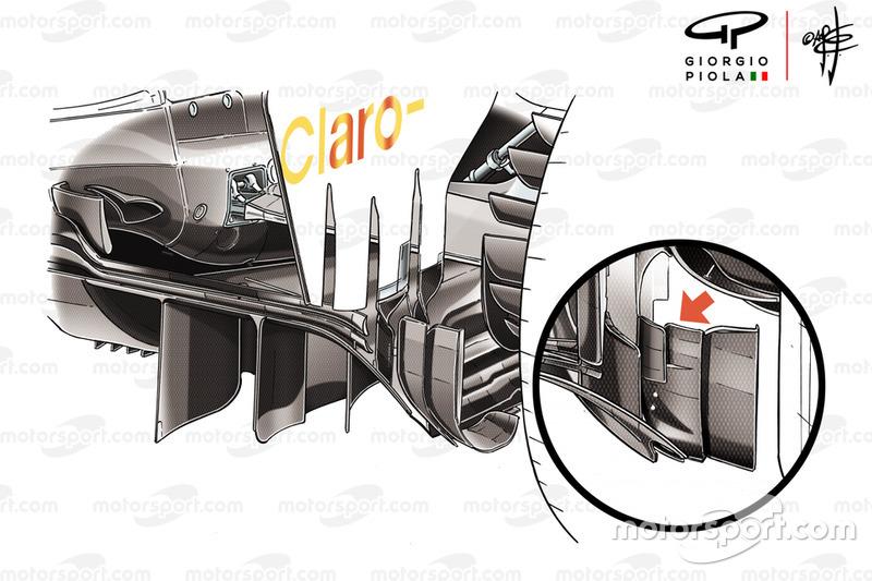 Детали диффузора Sauber C37