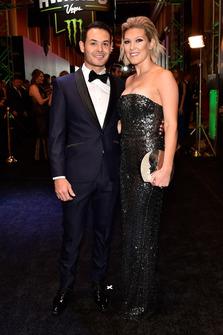 Kyle Larson, Chip Ganassi Racing, mit Ehefrau Katelyn