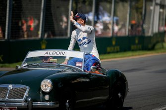 Alexander Albon, Toro Rosso, in the drivers parade