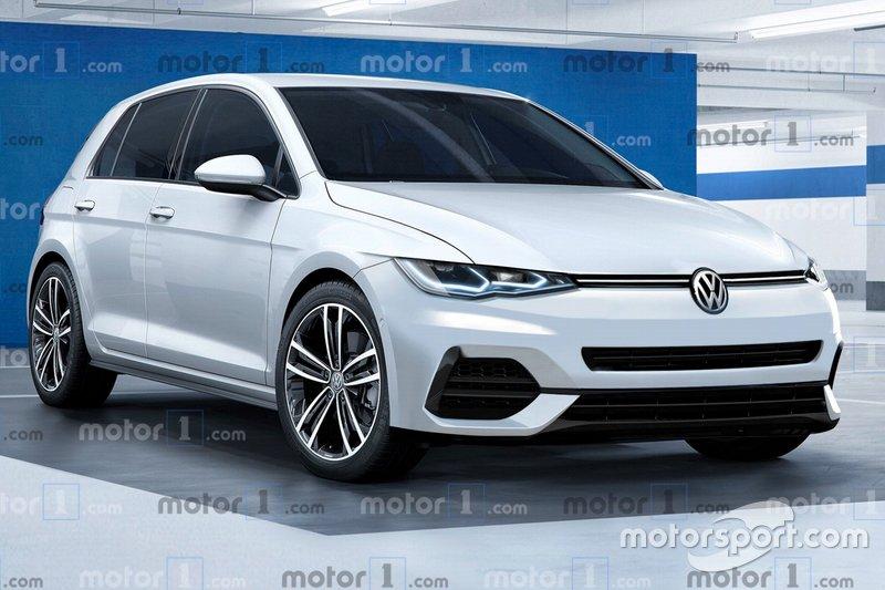 Рендер Volkswagen Golf 8