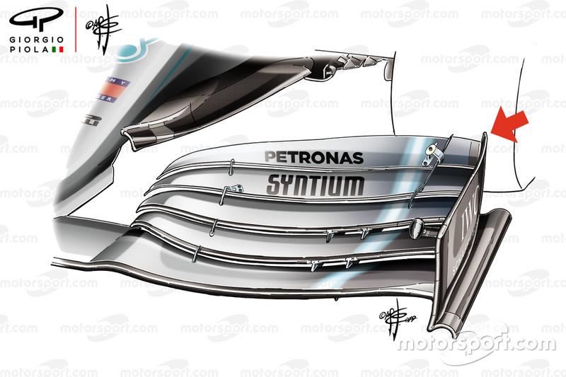 Mercedes-AMG F1 W10 ön kanat detay