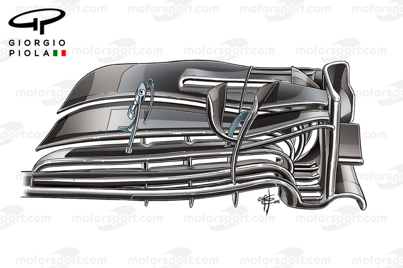 McLaren MP4/31 front wing, Barcelona, colored