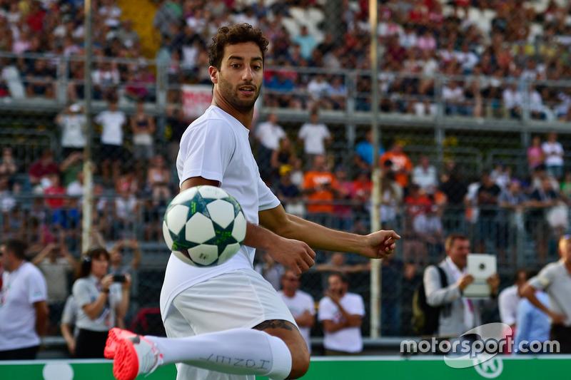 Daniel Ricciardo, Red Bull Racing at the charity 5-a-side football match