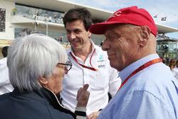 Берни Экклстоун, Тото Вольф и Ники Лауда, Mercedes AMG F1