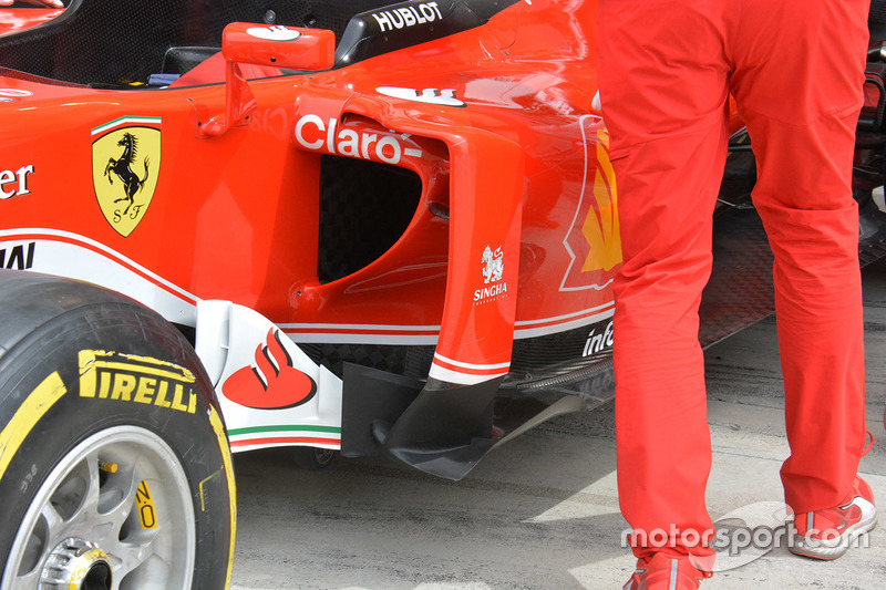 Ferrari SF16-H, Seitendetail