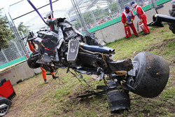 De McLaren MP4-31 van Fernando Alonso, McLaren na crash