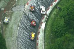 Unfall: #100 Schubert Motorsport, BMW M6 GT3: John Edwards, Jens Klingmann, Lucas Luhr, Martin Tomczyk