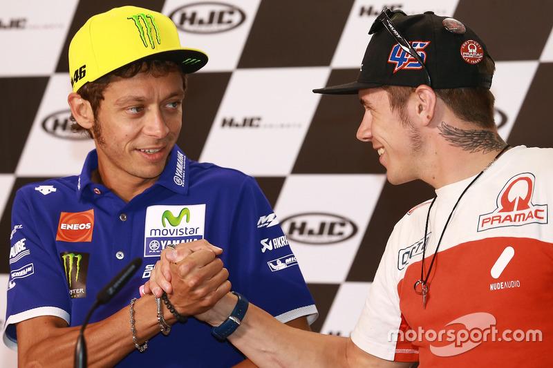 Valentino Rossi, Yamaha Factory Racing; Scott Redding, Octo Pramac Racing