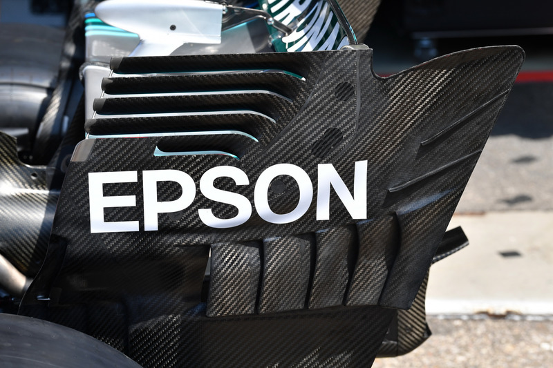 Mercedes-AMG F1 W09 rear wing detail