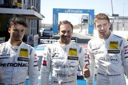 Top-drie na kwalificatie: Pole position voor Gary Paffett, Mercedes-AMG Team HWA, Pascal Wehrlein, Mercedes-AMG Team HWA, Paul Di Resta, Mercedes-AMG Team HWA