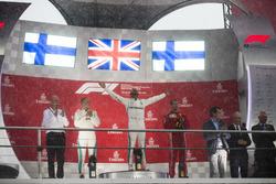 Podium: second place Valtteri Bottas, Mercedes AMG F1, Race winner Lewis Hamilton, Mercedes AMG F1, third place Kimi Raikkonen, Ferrari