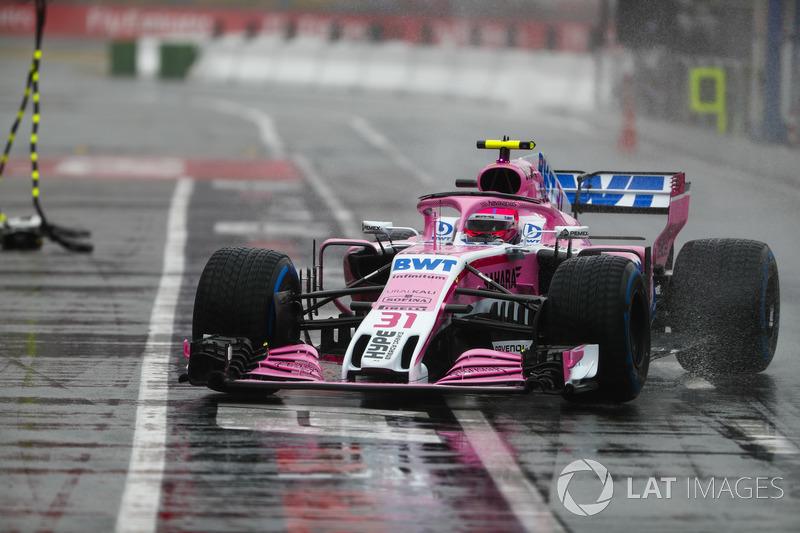 8 місце — Естебан Окон, Force India — 73