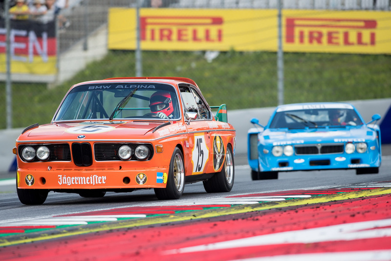 Niki Lauda, BMW 3.0 CSL et Hans Heyer, Lancia Corse