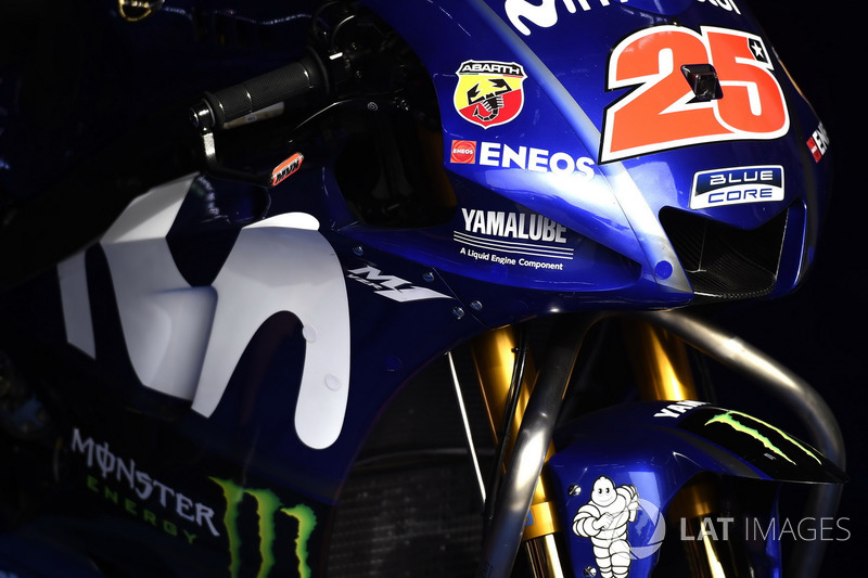Carenado en la moto de Maverick Viñales, Yamaha Factory Racing
