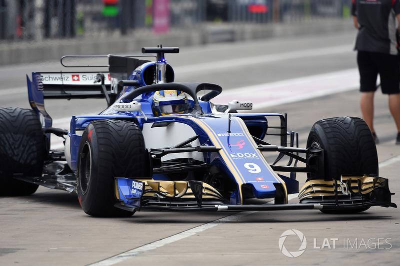Marcus Ericsson, Sauber C36 con el halo